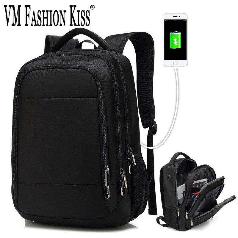 VM FASHION KISS Business mâle 15.6 sac à dos pour ordinateur portable pour hommes étudiant femme école les deux épaules USB charge voyage sacs à dos