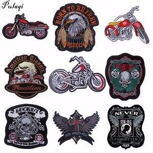 Нашивки Pulaqi байкерские с вышивкой, аппликация для езды на мотоцикле в стиле панк-рок, нашивки для одежды, джинсы, жилет, куртка, нашивка для с...