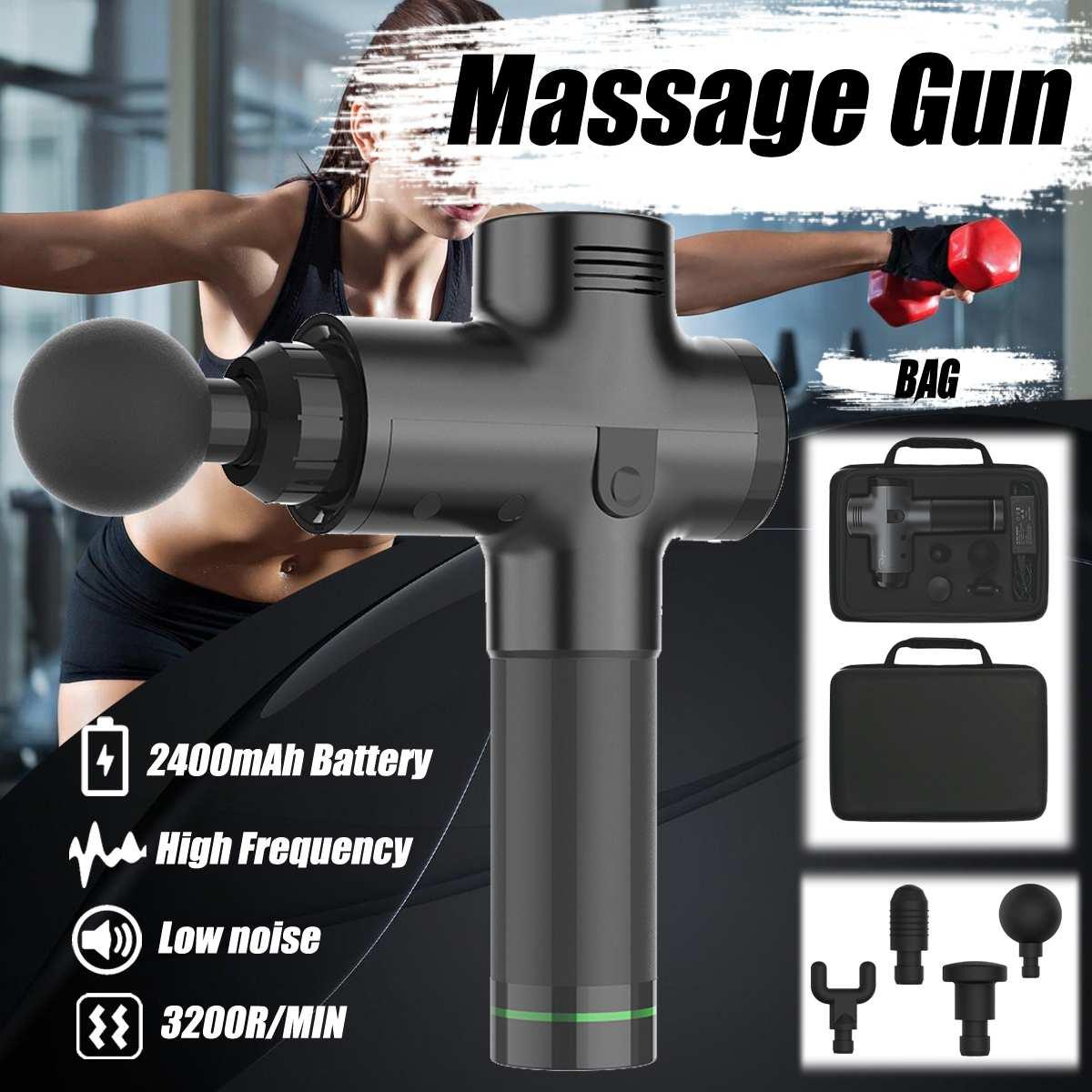 Pistolas de masaje de tejido masajeador muscular gestión del dolor muscular después de entrenar Ejercicio de relajación corporal adelgazamiento Shaping Relief
