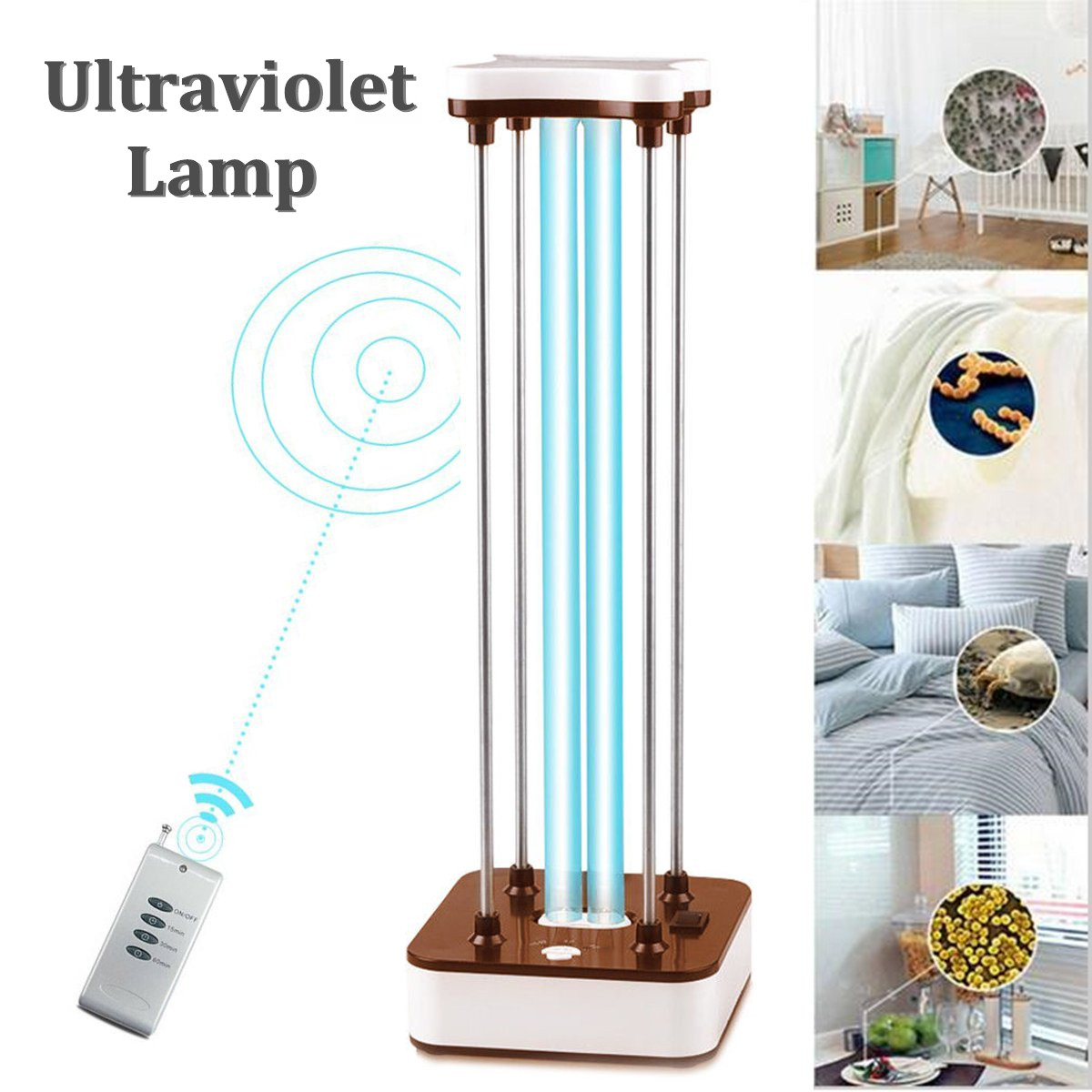 36 W 110 V 220 V UVC stérilisation germicide CFL lampe ampoule lumière ultraviolette à distance calendrier Contol Ozone lampe ultraviolette