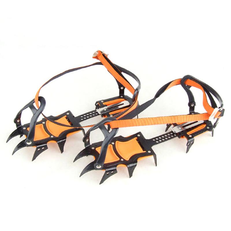 New 12 Tooth Ice Claw Anti Skid Crampons With Hole Adjustable Professional Outdoor Climbing Ice Climbing