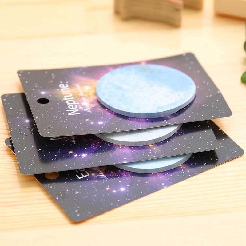 Блокнот для заметок, бумага для заметок, популярные планеты, блокнот, креативные Канцтовары для записей, милые, высокое качество, Kawaii, 1 шт., школьные принадлежности, Липкие заметки