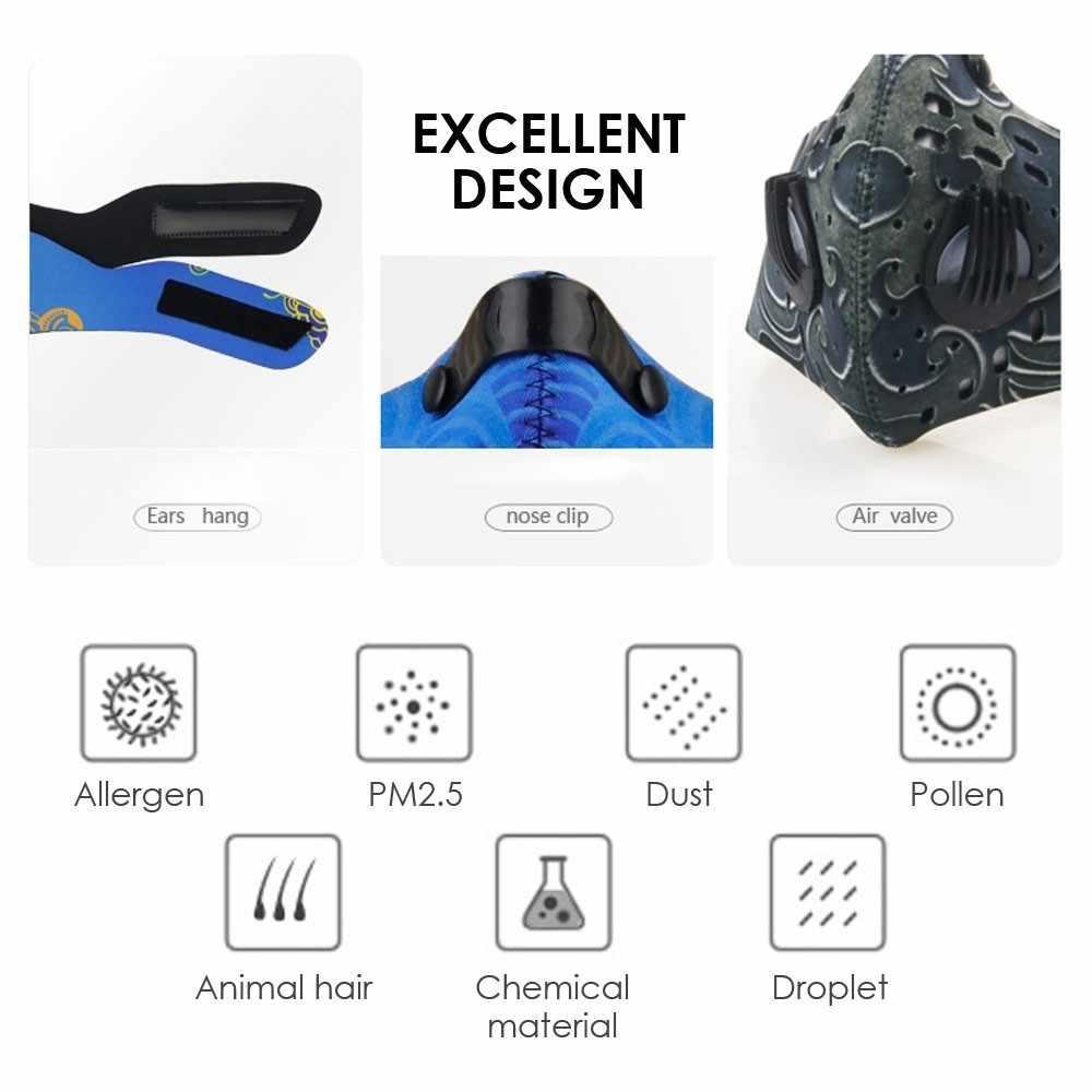 Fietsen Gezichtsmasker Actieve Kool Dual Filter Ski Training Running Outdoor Winddicht stofdicht anti-stof Fiets Accessoires