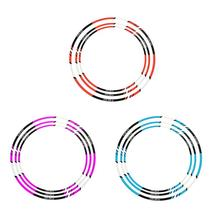 Motorcycle Car Wheel Strips Reflective Rim Stickers Self-marking Tape Steel Ring Sticker Waterproof  8 Colors