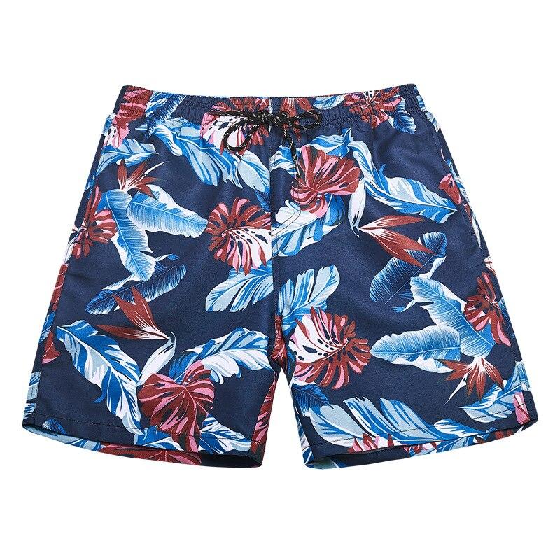 2019 Summer Newest Men Polyester Beach   Shorts   Man Floral Print   Board     Shorts     Short   De Bain Homme Bermuda Surf   Short   Beach Pants