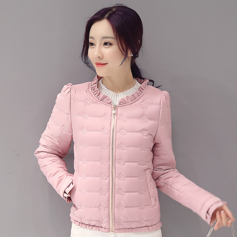 2018 winter women   basic     jacket   zipper female coat autumn spring ladies outerwear short girls cotton padded jaqueta feminina