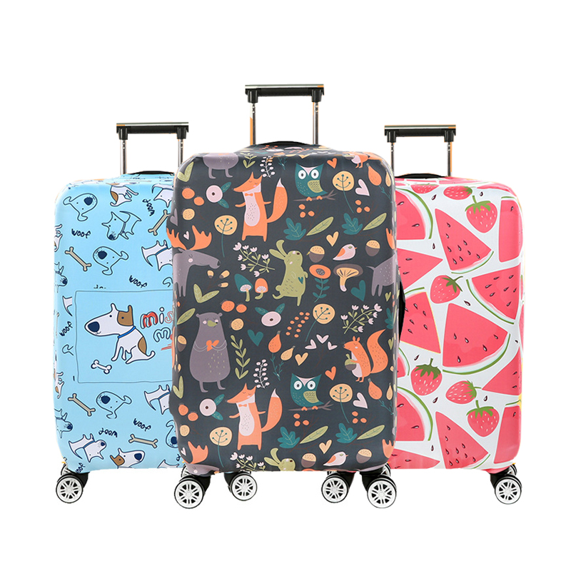 Cartoon Luggage Protective Cover Stretch Fabric Suitcase Protector Baggage Dust Case Apply For 18 To 32 Inch Travel Accessories