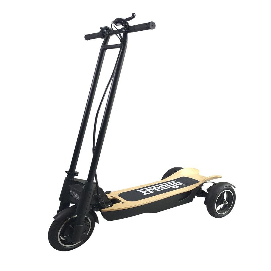 Freego ES-10 T 10.4Ah/48 V batterie de scooter électrique Trois Roues Antichoc 500 W Moteur Pliage trottinette électrique UE Plug