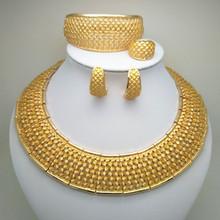 Kingdom Ma Dubai Gold color Jewelry Set Costume Design Brand Nigerian Wedding Jewelry Set Fashion African Beads Jewelry Sets