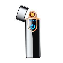 2019 nowy czytnik linii papilarnych Usb zapalniczki elektryczne zapalniczki metalowe akumulator zapalniczki dwustronne ogrzewanie drutu latarka tanie tanio Lustro USB lighter Electric lighter Rechargeable lighter