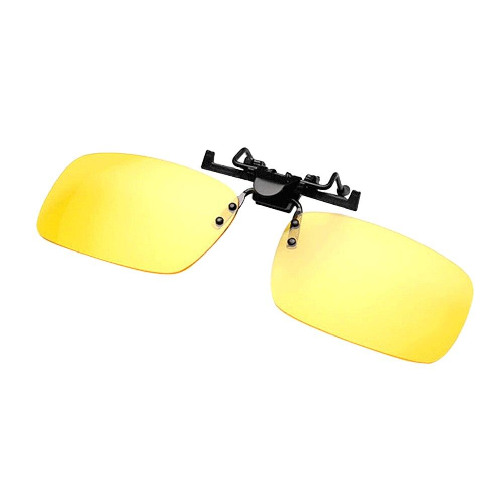 1PC Night Vision Polarized Sunglasses Clip Drive Sunglasses Goggles Resin Lenses Night Driving Glasses Car Accessories