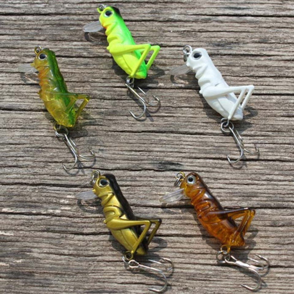 Grasshopper Insect Lifelike Fishing Lure Tackle Luminous Artificial Bait Nett