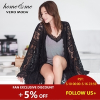 Vero Moda Women's Wide cuff Sleeves Laced Medium Length Leisure Gown |3181R1505