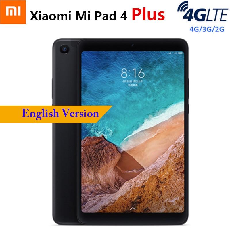 Xiaomi Mi Pad 4 Plus 4G Tablet PC Phablet 10.1'' MIUI 9.0 Qualcomm Snapdragon 660 4GB 64GB Facial Recognition 13MP Cam Dual WiFi