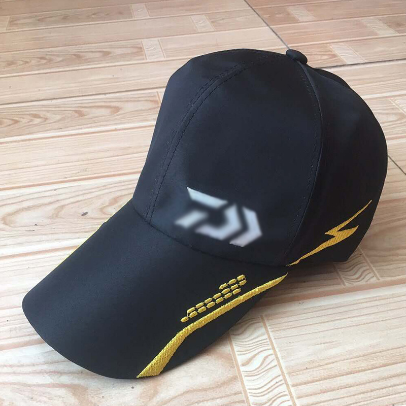 Open-Minded Daiwa Male Sunshade Sun Visor Black/white Breathable Mesh Cap Adjustable Hat Around Men Fishing Tackle High Quality Pesca Lustrous Surface