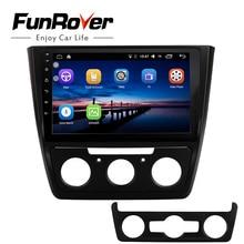 Funrover 2 din Автомобильный Радио Мультимедийный dvd-плеер 10,1 «Android8.0 gps для Skoda Yeti 2014-2017 Стерео Авторадио Видео навигация