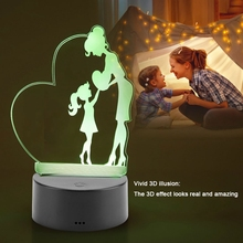 LED Colorful Night Lights Remote Control Table Desk LED Illusion Lamps With USB Charging Kit 3W 4.5V Light For Gift thrisdar multicolor novelty led night light with remote controller usb rechargeable cute cat children babybedside table lamps
