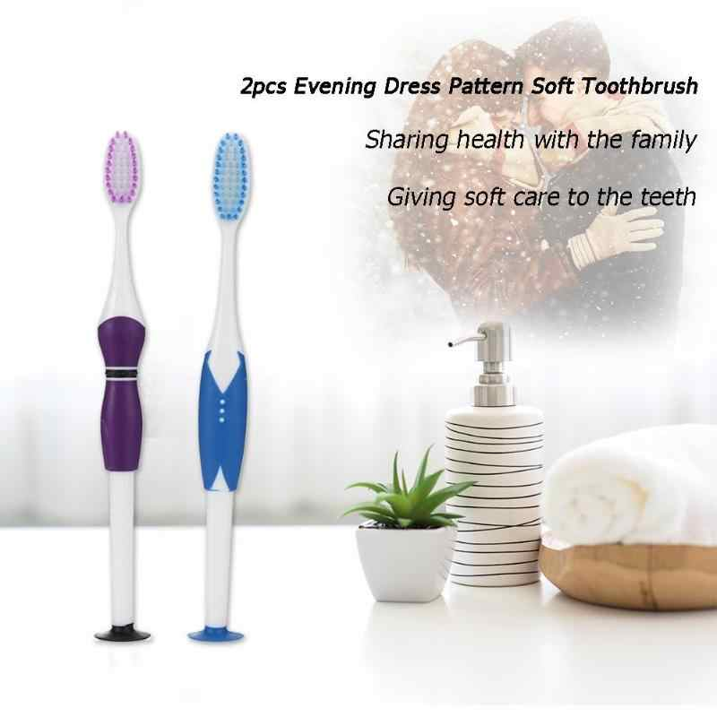 2 шт. Мягкая зубная щетка es питьевой нано зубная щетка для ухода Экологичная зубная щетка зубной инструмент для взрослых