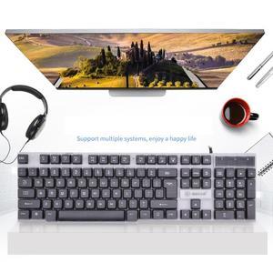 Image 2 - SUNROSE T20 cable USB 104 teclas Teclado + Ratón salpicaduras conjunto de la Oficina para el hogar Juegos de ordenador Juegos de teclado y ratón Combos para LOL.