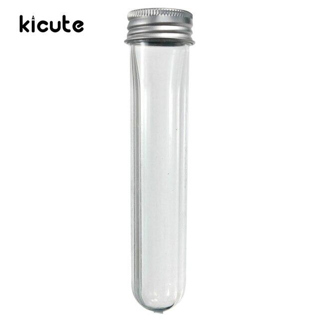 1Pcs 40ml U Shape Empty Plastic Transparent Sealing Tube Container Screw Lid Test Tube With Cap Aluminium Lab School Supplies