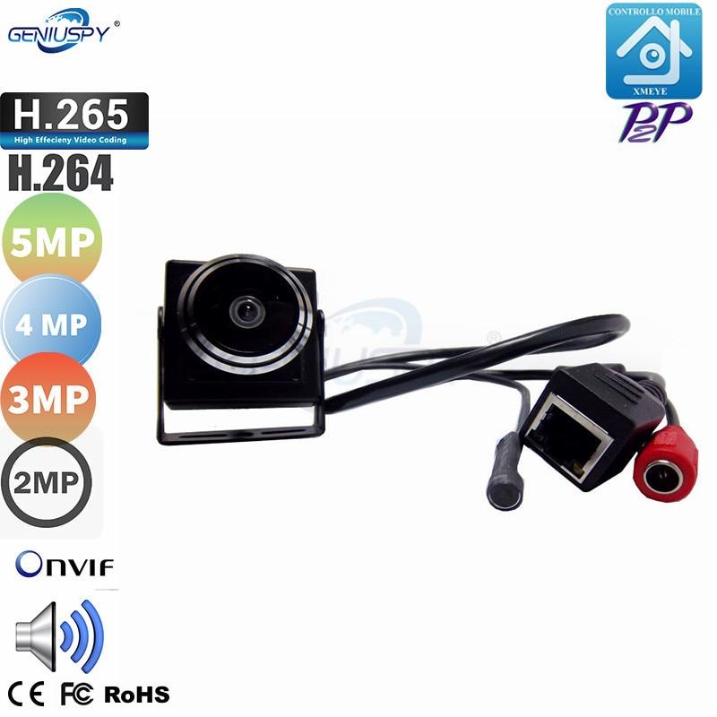 H.265/H.264 2MP 3MP 4MP 5MP Audio Video Camera MINI IP Camera Microphone P2P Network 1.78mm Fisheye Lens Wide Angle Fisheye Lens