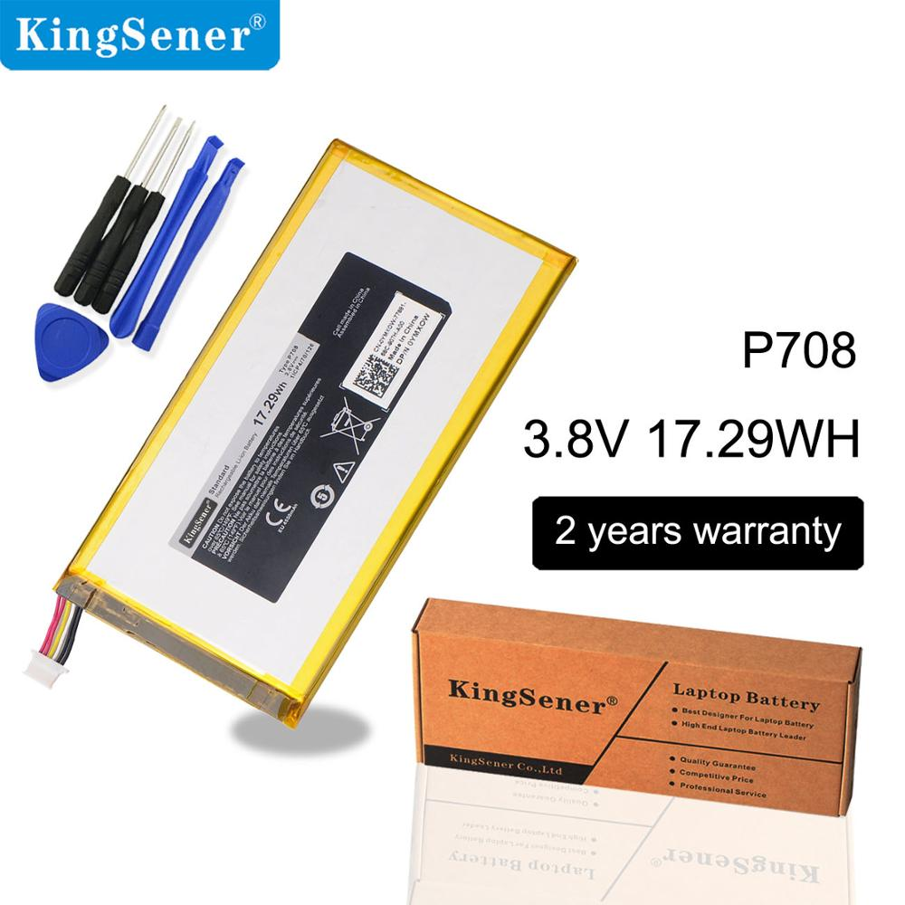 KingSener New P708 Laptop Battery For DELL Venue 7 3740 8 3840 Tablet PC  P708 0YMXOW 3.8V 17.29WH Free 2 Years Warranty