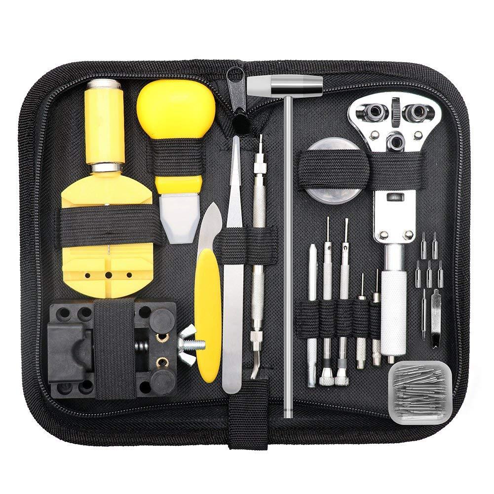 147 Pcs Uhr Reparatur Kit Professionelle Frühling Bar Tool Set, Fall Opener Uhr Band Link Pin Werkzeug Set Mit Tragen Fall