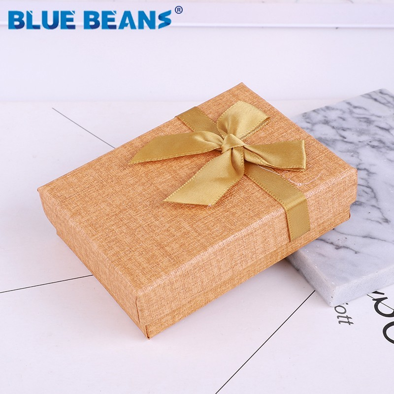 Jewelry Necklace Earrings Ring Packaging Box Hot Sell Paper Gift Box Jewellery Organizer Sponge Boxes Gift Bangles Bow Gold 2019