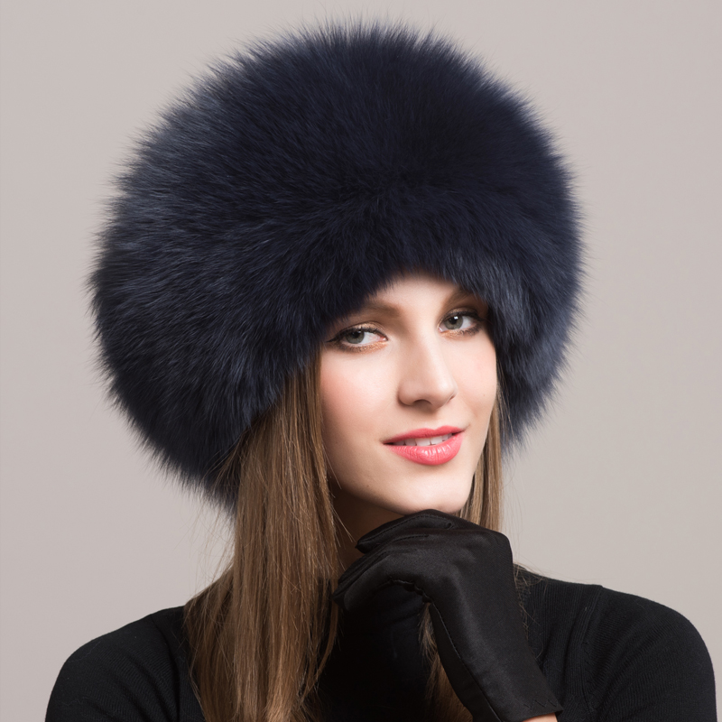 Woman Winter Earmuffs Genuine Leather Northeast Mongolia Hat Nation Wind Leather And Fur Hats Woman Winter