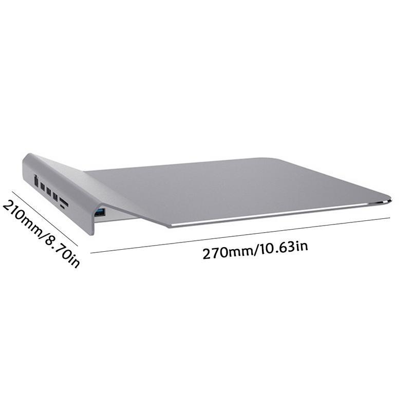 USB3.0 HUB multi-fonctionnel en alliage d'aluminium tapis de souris RJ45 SD carte Slot USB 3.0 souris tapis d'accueil USB Hub Extender
