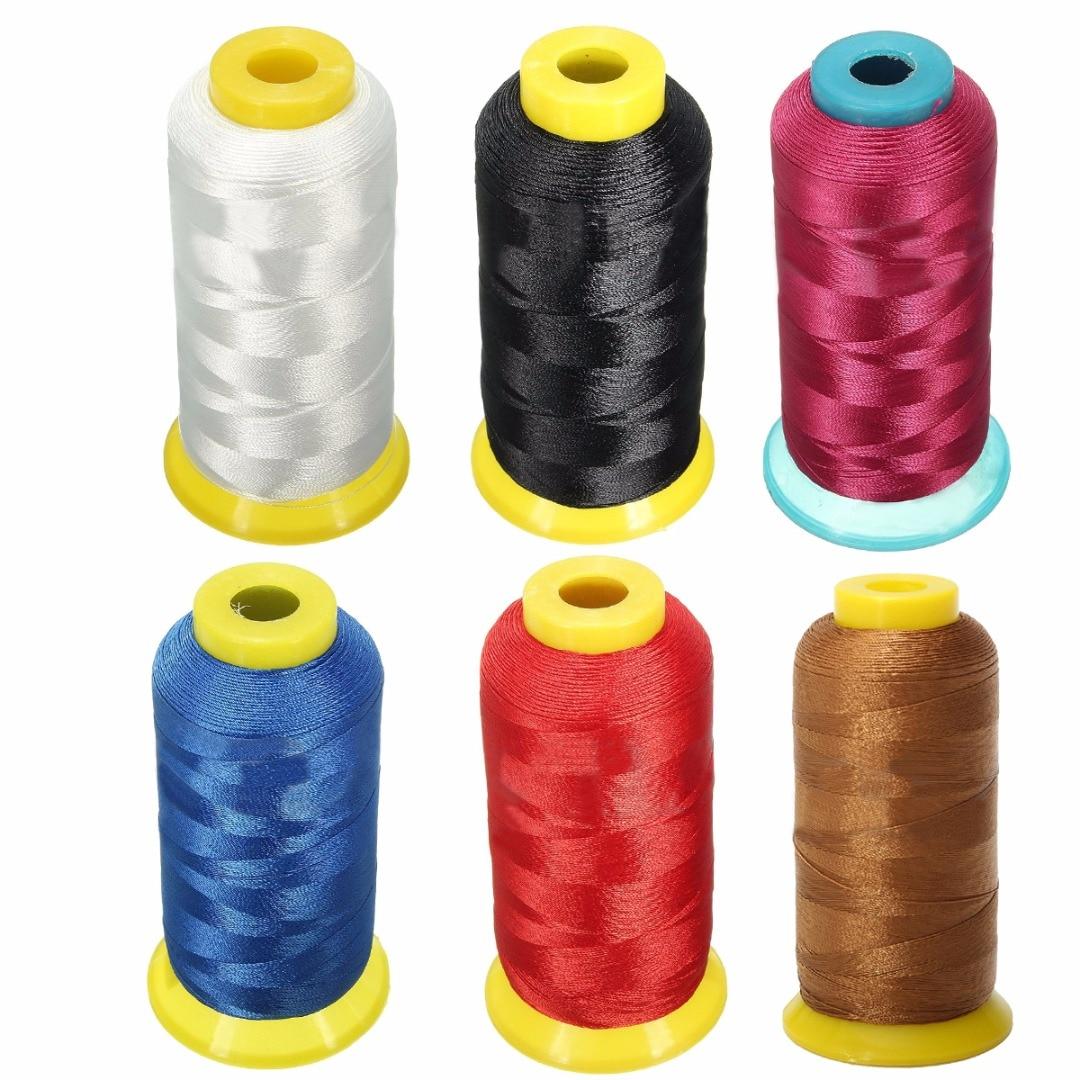 ¡Nuevo! Carrete de hilo de seda de 1 rollo de nailon para tejer ropa Textiles para el hogar 1300m 0,2mm de espesor 5 colores