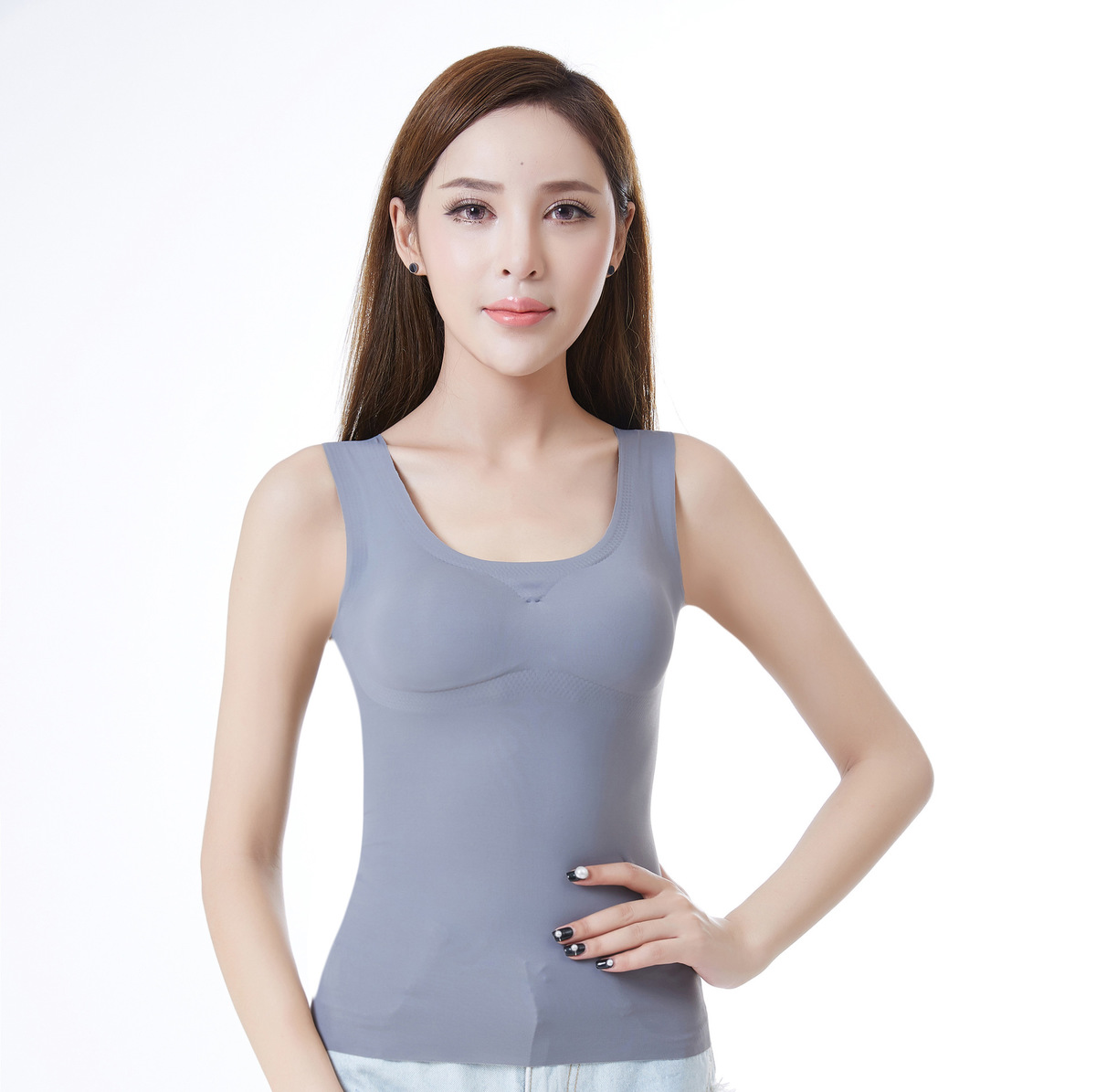 Bra Cami Tank Top Women Body Removable Underwear Slimming Vest Corset Shapewear  Vest