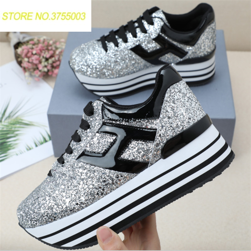 Women Causal Shoes Sexy Platform Wedges High Heels Shoes Glitter Silver Multi Platform Oxford Women Shoes zapatos mujerWomen Causal Shoes Sexy Platform Wedges High Heels Shoes Glitter Silver Multi Platform Oxford Women Shoes zapatos mujer