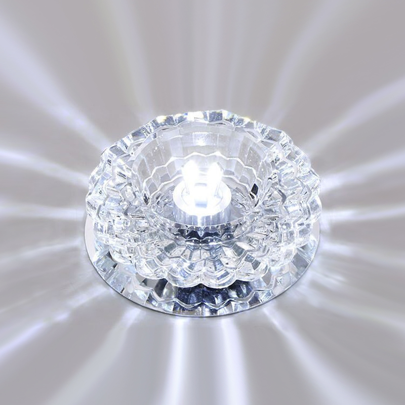 Купить с кэшбэком Downlight SMD 3W/5W LED Downlights crystal lamp Ceiling Spot Light With LED Driver indoor Decoration DA