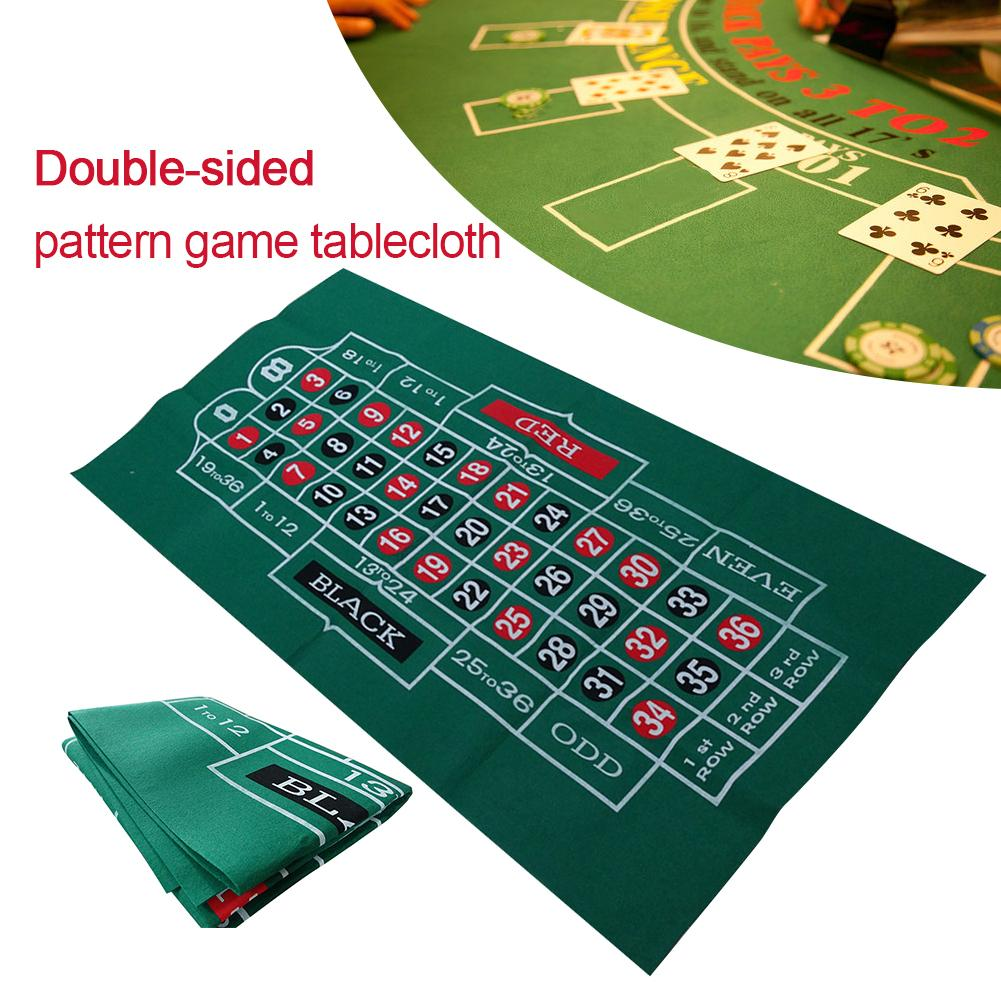 Double-sided Pattern Game Tablecloth Non-woven Waterproof Table Mat Blackjack Roulette Tablecloth Table Game Supplies