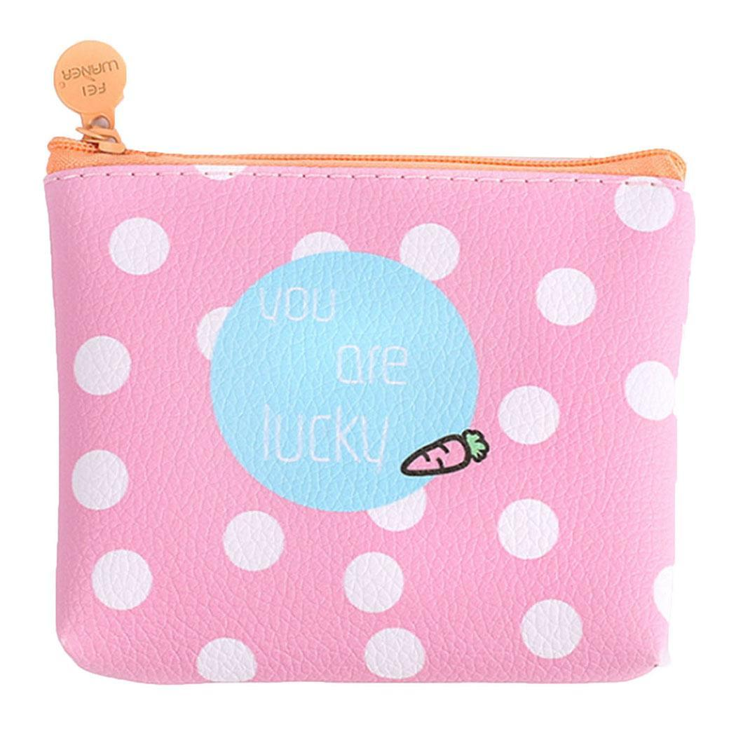 Purse Small Wallet Cards-Organizer Square Mini Coin Girls Synthetic Women Casual Zip