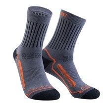 Full Cushioning Thick Winter Warm Merino Wool Men Socks Big Size EUR39-46 Wicking Wear Resistant Profession Working Sock For Men