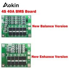 4S 40A литий-ионная батарея Защитная плата 18650 зарядное устройство PCB BMS для электродвигателя 14,8 в 16,8 в Улучшенная/сбалансированная версия diy kit