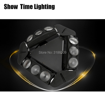 dj led disco light Mini 9 head Led spider beam moving head stage effect DMX 512 Control KTV DJ Party lite home entertain