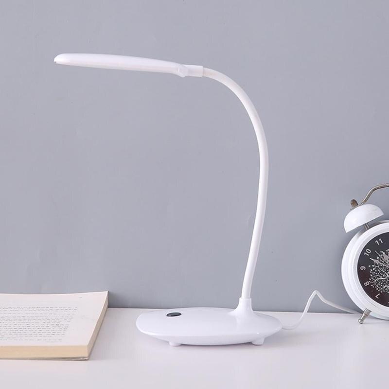 Luxus LED Beistell Schreibtisch Lampe Schlafzimmer Leuchte Kupfer Farben gebogen