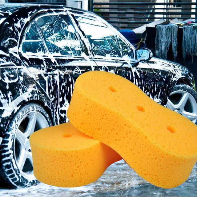 1 Piece Car Wash Maintenance Sponge Cleaning Brush 3 Holes Coral Honeycomb Sponge Yellow Block Car Cleaner Clean Tools For Cars
