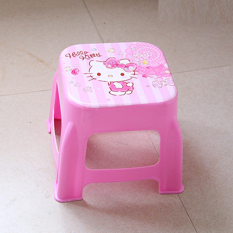 Image 3 - Plastic Small Stool Kindergarten Cartoon The Bench Household Adult Originality Living Room Shoes Kids Chair Furniture Dinette-in Children Chairs from Furniture