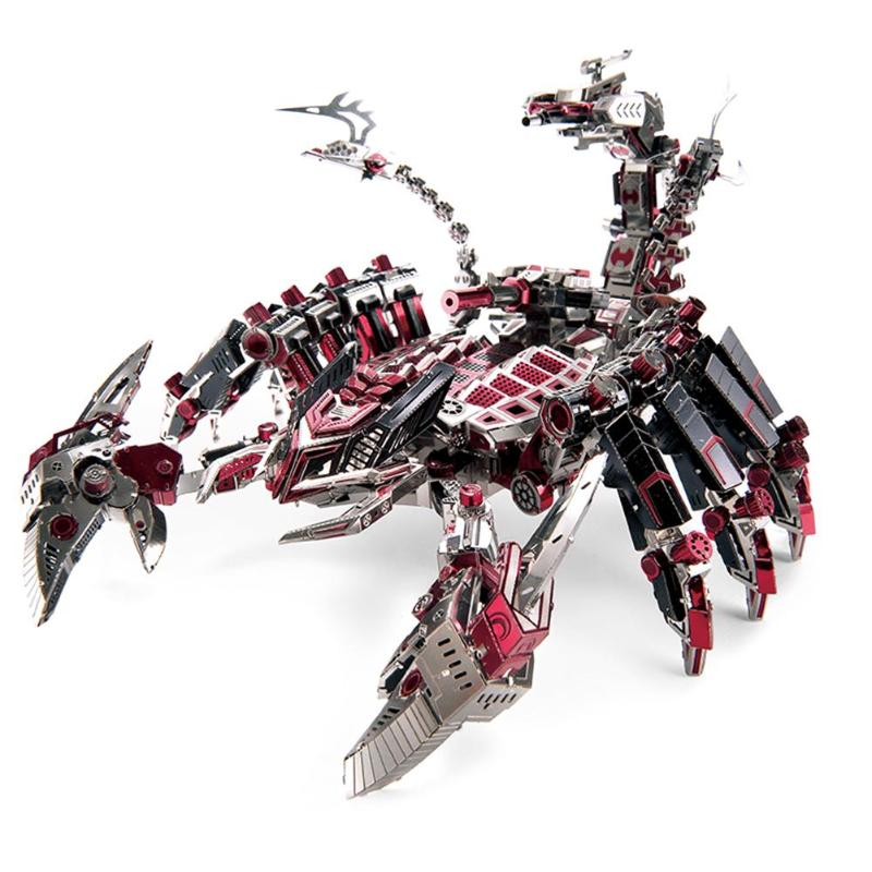 2018 Brand New Red Devils Scorpion Model DIY Laser Cutting Jigsaw Puzzle Fighter Model 3D Metal Puzzle Toys for Children gifts