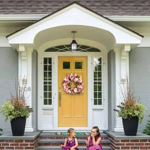 Image 5 - Grinalda artificial da peônia da grinalda da flor grinalda da mola da grinalda da porta de 16 polegadas para a porta da frente, casamento, casa d