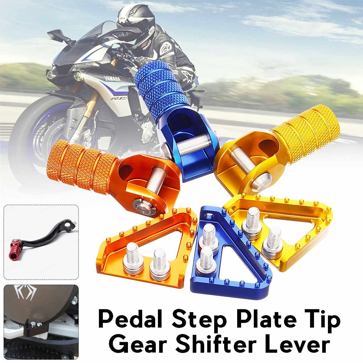 Universal Rear Brake Pedal Motorcycle Step Plate Tip With Gear Shifter Motorcycle Shift Lever For KTM 125-530 Enduro Motocross