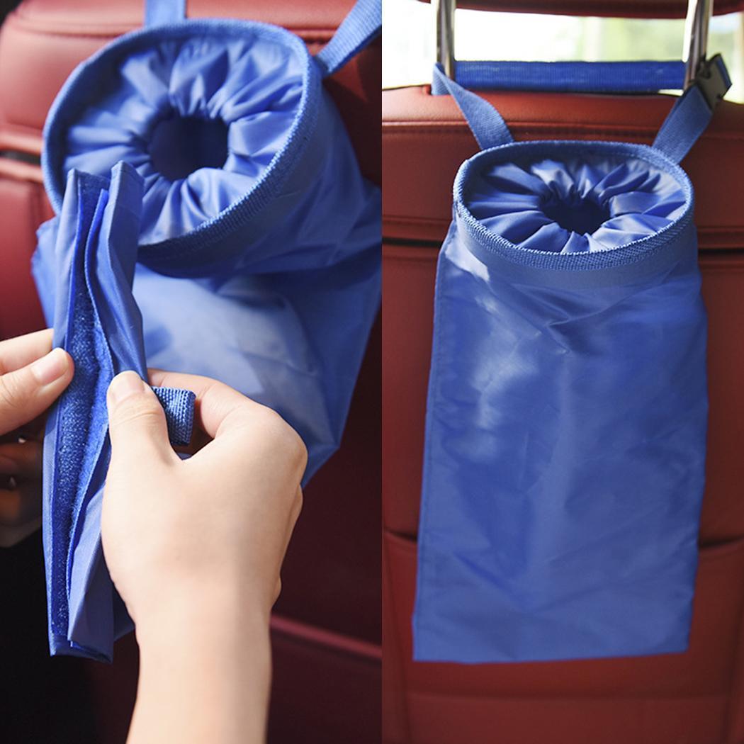 Portable Vehicle Auto Car Trash Bag Oxford Fabric Car Seat Back Hanging Garbage Storage Bag Organizer Clean Car Styling