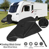 87x62x40cm Universal Waterproof Caravan Towing Hitch Cover Rain Snow Dust Dustproof Protector for RV Tailer