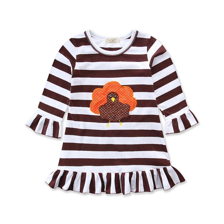 Princess Kids Girls Deer Long Sleeve Dress Baby Party Pageant Skirt Mini Dresses