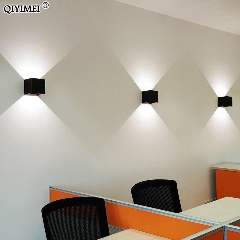 quadrado moderno lampadas parede led impermeavel 02