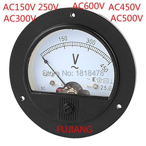 62T2 150 в 300 в 500 в 450 в переменного тока 0-250 В Аналоговый вольтметр измеритель напряжения измерительный датчик класс 2,5